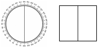 Compass 180 degrees square