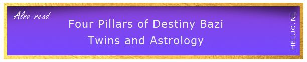 Four Pillars of Destiny Bazi Twins Astrology - Heluo Hill